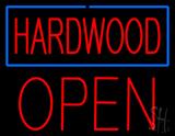 Hardwood Block Open Neon Sign