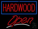 Hardwood Script2 Open Neon Sign