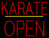 Karate Block Open Yellow Line Neon Sign