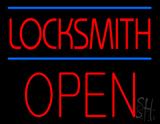 Locksmith Block Open Neon Sign