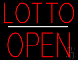 Lotto Block Open White Line Neon Sign