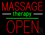 Oval Massage Therapy Open Neon Sign
