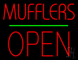 Mufflers Open Block Green Line Neon Sign