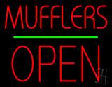 Mufflers Open Block Green Line LED Neon Sign