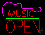Music Green Line Open Block LED Neon Sign