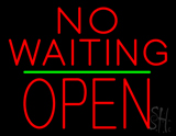 No Waiting Block Open Green Line Neon Sign
