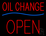 Oil Change Open Block Neon Sign