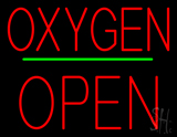 Oxygen Block Open Green Line Neon Sign