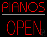 Pianos Open Block Neon Sign