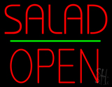 Salad Open Green Line Neon Sign