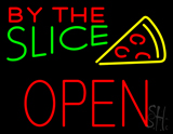 By the Slice Block Open Neon Sign
