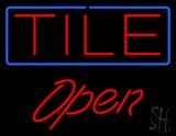 Tile Script1 Open Neon Sign