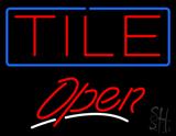 Tile Script2 Open Neon Sign
