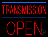 Red Transmission Open Blue Lines Neon Sign