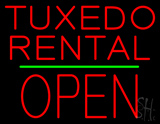 Tuxedo Rental Open Green Line Neon Sign