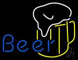 Blue Beer with Mug LED Neon Sign