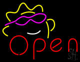 Open W Sun Logo Neon Sign