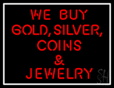 Gold Silver Coins Neon Sign