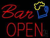 Bar Open with Beer Mug LED Neon Sign