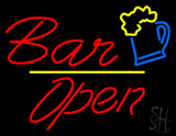 Red Bar Open Neon Sign