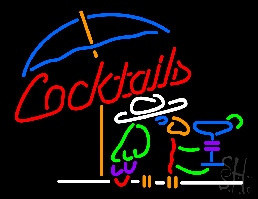 Cocktails Parrot Neon Sign | Cocktail Neon Signs - Every