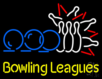 Bowling Leagues Neon Sign