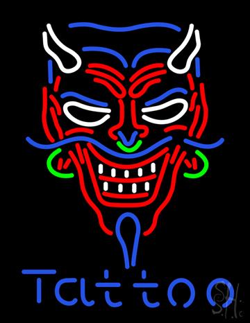 Devil Tattoo Neon Sign