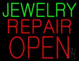 Jewelry Repair Block Open Neon Sign