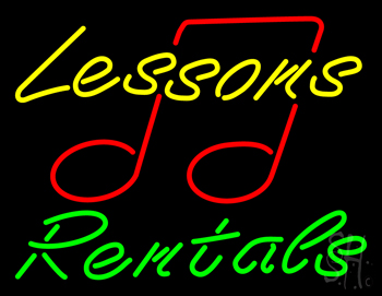 Lessons Rentals Neon Sign