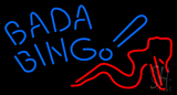 Blue Bada Bing Lady Neon Sign
