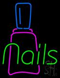 Nails with Nail Logo Neon Sign