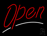 Open - Large Script Neon Sign