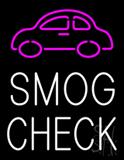 Smog Check Car Logo Neon Sign