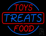 Toys Treats and Food Neon Sign