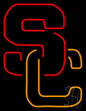 Usc - S and C Interlocked Neon Sign