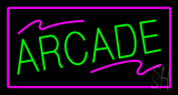 Arcade Rectangle Purple Neon Sign