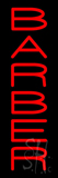 Vertical Red Barber Neon Sign