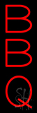 Vertical Red BBQ Neon Sign