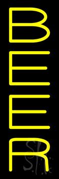 Vertical Yellow Beer Neon Sign