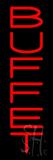 Vertical Red Buffet Neon Sign