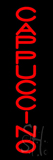 Red Vertical Cappuccino LED Neon Sign