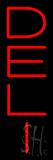 Vertical Red Deli Neon Sign