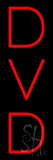 Red DVD Vertical LED Neon Sign