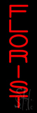 Vertical Red Florist Neon Sign
