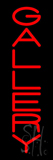 Vertical Red Gallery Neon Sign