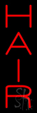 Vertical Red Hair Neon Sign