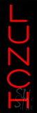 Red Vertical Lunch Neon Sign