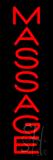 Vertical Red Massage Neon Sign