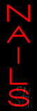 Veretical Red Nails Neon Sign