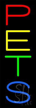 Pets Vertical Neon Sign